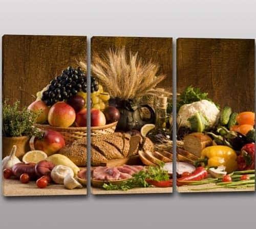 Tris quadri moderni pane cereali - Quadri moderni cucina ...