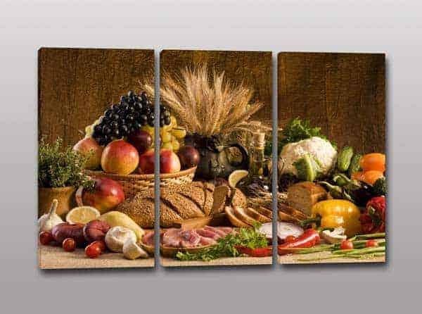 Quadri moderni cucina cibo arredi murali decorazioni da for Quadri per cucina