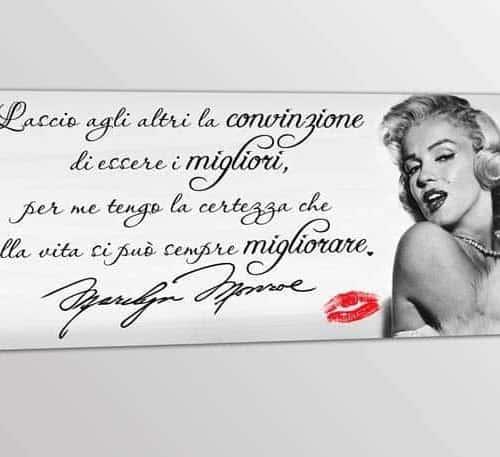 quadro moderno frase Marilyn Monroe