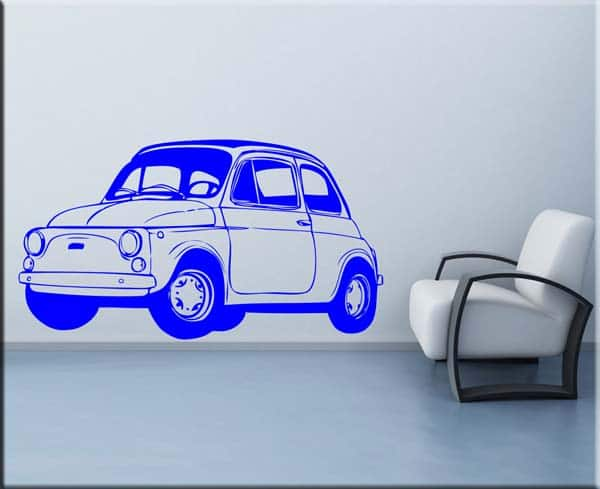 wall sticker fiat 500