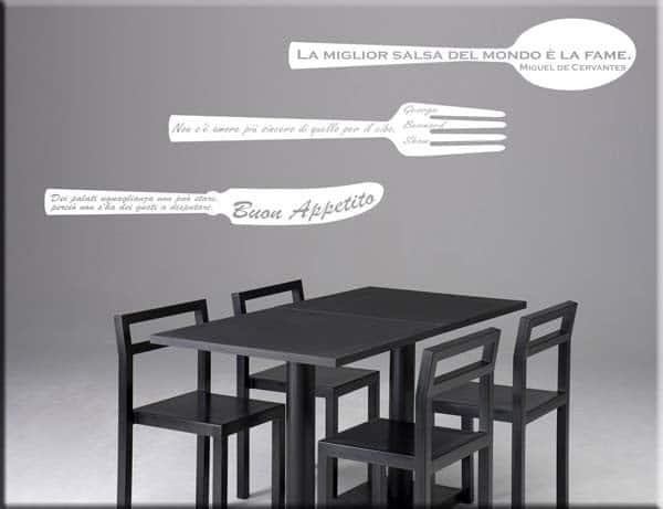Adesivi murali frasi cucina - Adesivi per cucina ...