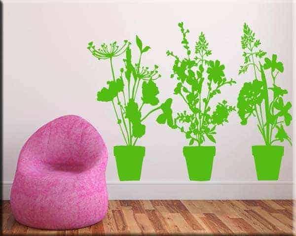 wall stickers adesivi da parete piante