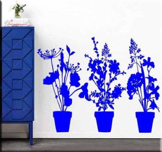 wall stickers decalcomanie murali adesivi piante