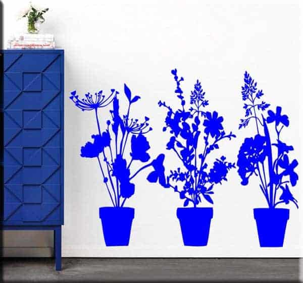 wall stickers decalcomanie murali adesivi piante