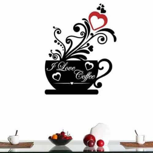 Adesivo murale love coffee bar o cucina
