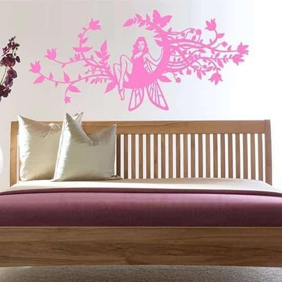 Decorazione adesiva murale fantasy rosa