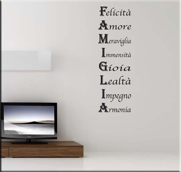 Wall sticker frase famiglia