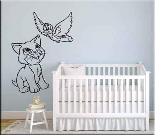 Adesivi murali gatti per decorazioni murali arredi murali - Adesivi bambini cameretta ...