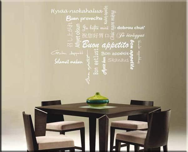 Adesivi murali buon appetito - Adesivi da parete per cucina ...