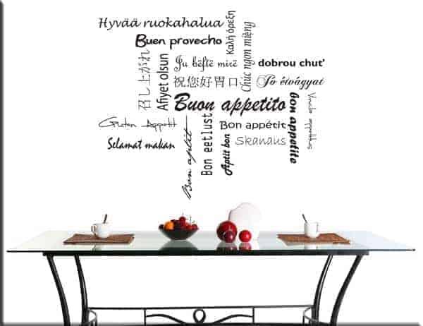 adesivi murali buon appetito