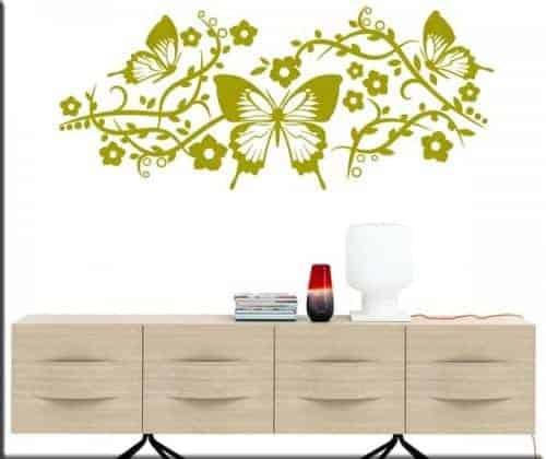 adesivi murali farfalle fiori