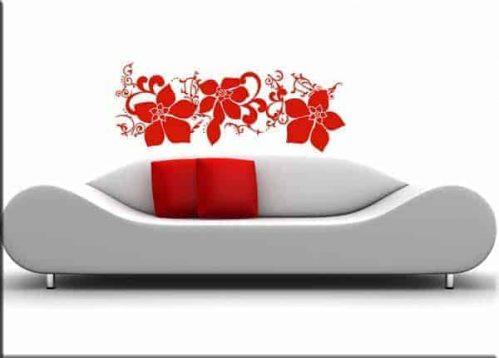 adesivi murali fiori arredo