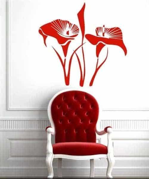 adesivi murali fiori calle
