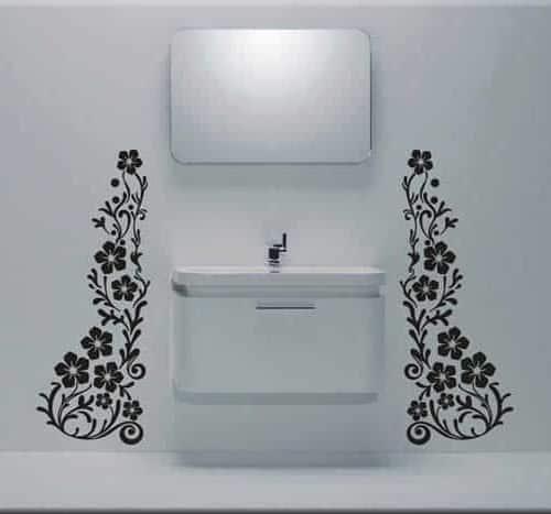 adesivi murali fiori decorazioni