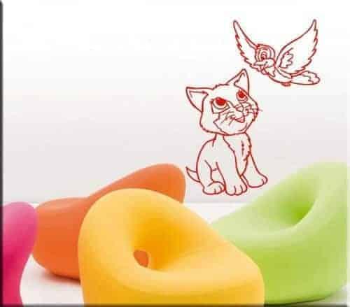adesivi murali gatto uccellino