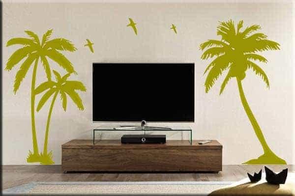 adesivi murali palme