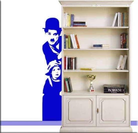adesivo da muro Charlie Chaplin
