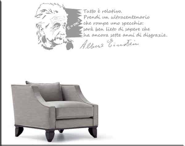 adesivo da muro frase Albert Einstein