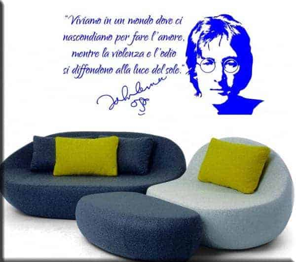 adesivo da muro frase John Lennon