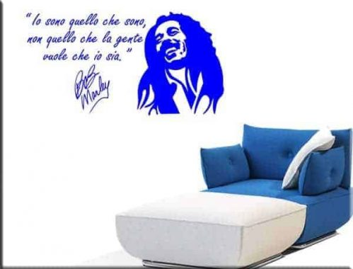 adesivo da parete Bob Marley frase