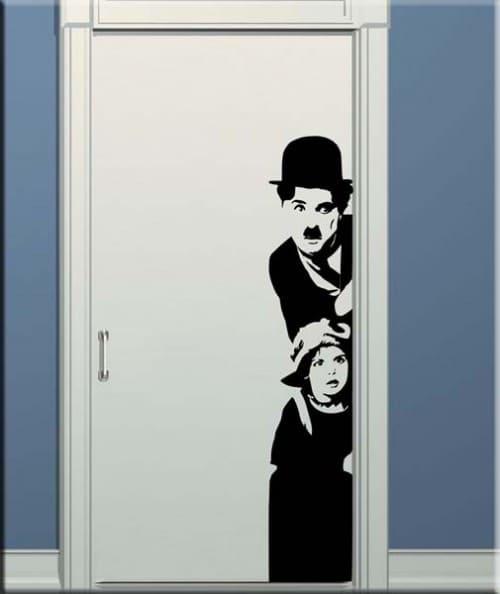 adesivo da parete Charlie Chaplin dal film il Monello