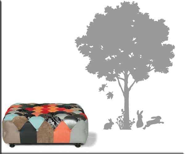 adesivo da parete albero