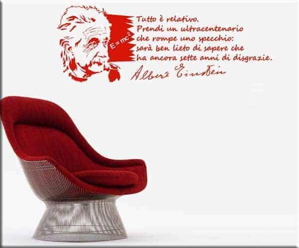 adesivo da parete frase Albert Einstein
