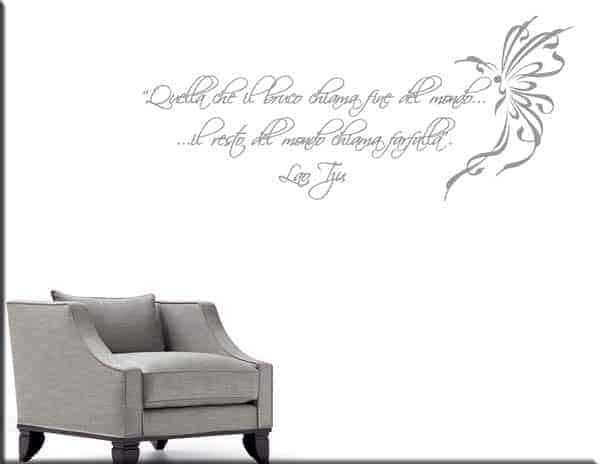 adesivo da parete frase Lao Tzu