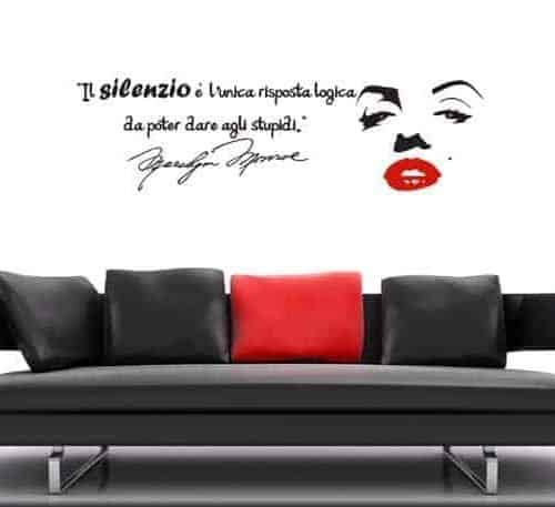 adesivo da parete frase Marilyn Monroe