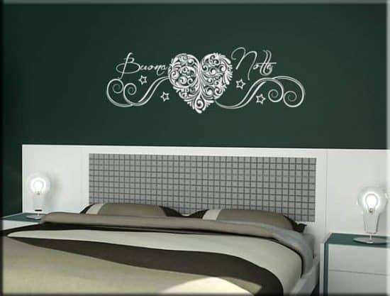 adesivo da parete frase buona notte