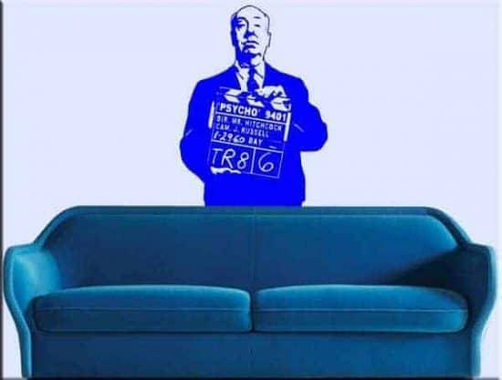 adesivo murale Hitchcock psycho cinema