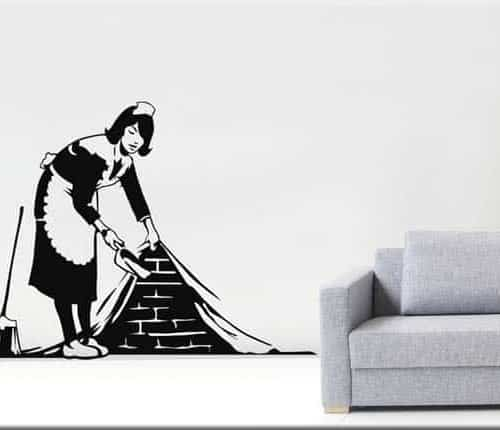 adesivo murale TROMPE L'OEIL Banksy