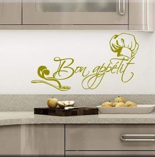 adesivo murale bon appétit