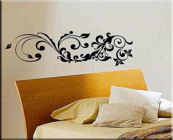 adesivo murale floreale stilizzato