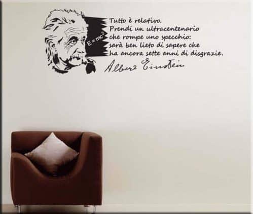 adesivo murale frase Albert Einstein