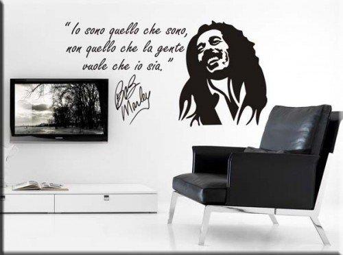 adesivo murale frase Bob Marley