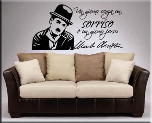 adesivo murale frase Charlie Chaplin