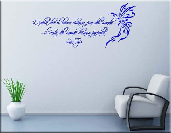 adesivo murale frase Lao Tzu