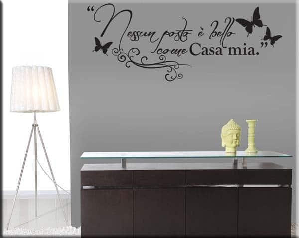 adesivo murale frase casa mia