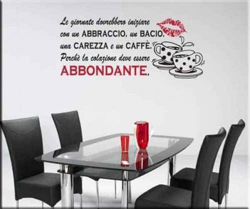 adesivo murale frase colazione
