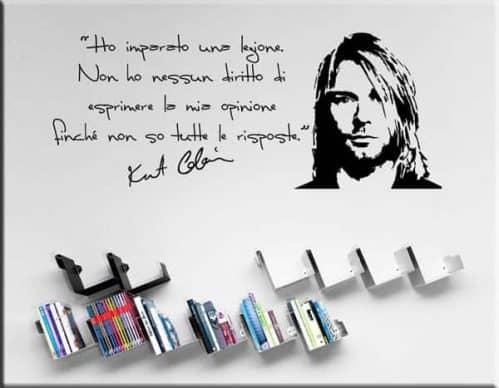 adesivo murale frase kurt cobain