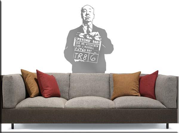 decorazione adesiva Hitchcock psycho cinema
