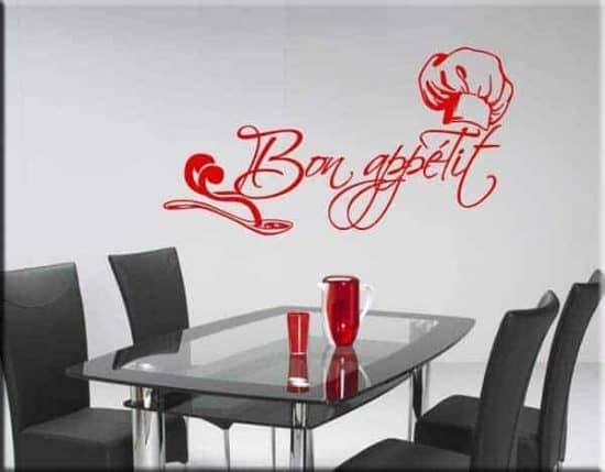 decorazione adesiva da muro bon appétit
