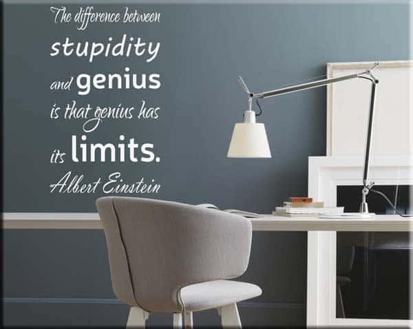 decorazione adesiva frase Albert Einstein