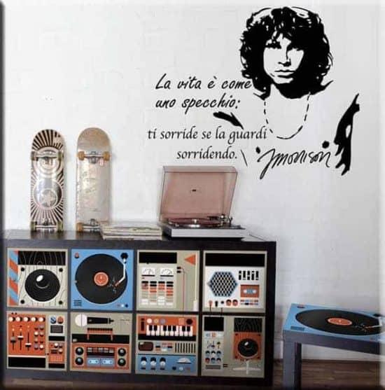 decorazione adesiva frase Jim Morrison