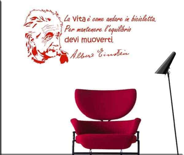 decorazione adesiva murale frase Albert Einstein