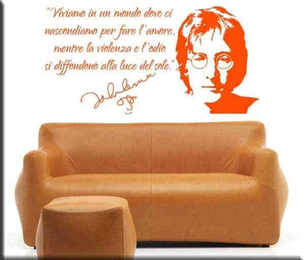 decorazione adesiva murale frase John Lennon