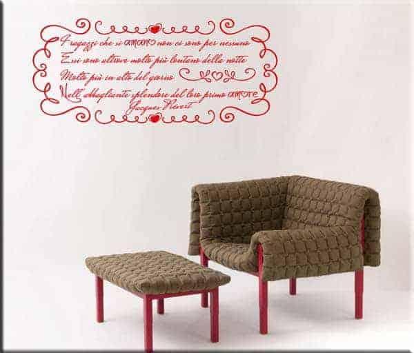 decorazione adesiva poesia Jacques Prévert
