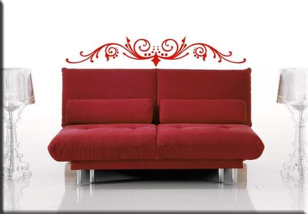 decorazione adesiva testata letto