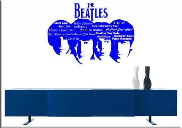decorazione murale BEATLES